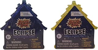 Set of 2: Animal Jam ECLIPSE Limited Edition Series Blind Houses (Sparkly Blue and Sparkly Yellow)