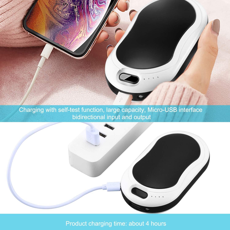 TLICLXY grande ajustable 10000 mAh color negro reutilizable pantalla digital recargable Calentador de manos calientes 3 niveles de calor masaje para el invierno Power Bank//Vibraci/ón