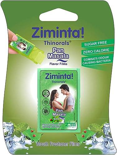 Ziminta Sugar Free Mint Mouth Freshener Easily Soluble Digestive Dispensable Strip (30 Strips, Pan Masala Flavour) - ...