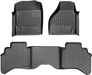 WeatherTech Custom Fit FloorLiner for Dodge Ram Truck 1500/2500/3500-1st & 2nd Row (Black)
