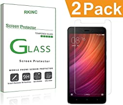 RKINC forRedmi Note 5Screen Protector, [2 Pack] Crystal Clear Tempered Glass Screen Protector [9H Hardness][2.5D Edge][0.33mm Thickness][Scratch Resist] forXiaomi Redmi Note 5