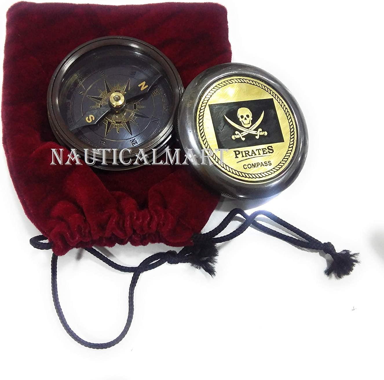 NauticalMart Pirated Compass Brass Pocket for Camping Gift Sale special price Trav 5 ☆ popular