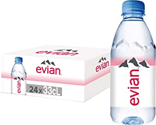Evian Natural Mineral Water - 330 ml (Pack of 24)