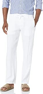 Perry Ellis Men's 100% Linen Drawstring Pant