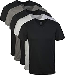 Gildan Mens GIL1103 Assorted V-Neck T-Shirts Multipack Short Sleeve Undershirt - Multi