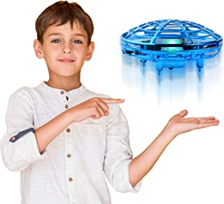 Flare Up Mini Drone Best for Kids, Hover Drone Automatic Sensing Obstacle Avoidance - UFO Flying Toys for Boys Girls Gifts - Blue