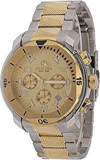 Watch by Olivera For Men, Chronograph, Stainless steel - OG370