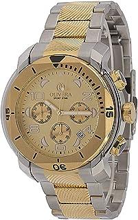 ساعة رجالية من أوليفيرا , كرونوجراف ,ستانلس ستيل - OG370