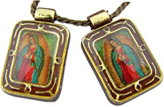 RA Catholic Gift Spanish Icon Blessed Virgin Mary Our Lady Guadalupe Devotional Cord Scapular Necklace