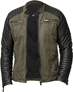 97bb78886 Amazon.com: Greens - Leather & Faux Leather / Jackets & Coats ...