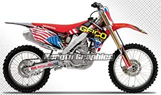 Kungfu Graphics Custom Decal Kit for Honda CRF250R 2010 2011 2012 2013, Red Blue
