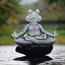 """Leego Meditating Zen Frog Statue,Zen Animal Yoga Frog Figurine for Indoor Outdoor Lawn Garden Decor (12.5"""" X4.9""""X10"""")"""
