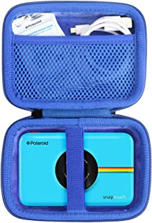 Khanka Duro Viaje Estuche Bolso Funda para Polaroid Snap/Snap Touch 2.0 Touch Cámara Digital (Cremallera Azul)