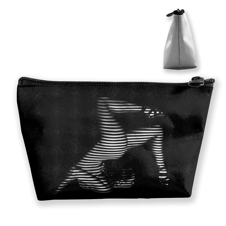 定期的なレザーシャークSzsgqkj 縞模様の写真の美しい女性 化粧品袋の携帯用旅行構造の袋の洗面用品の主催者