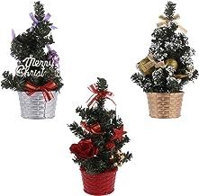 TOYANDONA 3pcs Mini Christmas Tree Small Pine Tree Desktop Xmas Trees Artificial Sisal Snow Frost Trees for Xmas Holiday P...