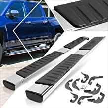6 Inches Running Board Side Step Nerf Bar Compatible with Chevy Silverado/GMC Sierra Crew Cab 07-18 Chrome