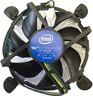 Intel E97379 – 003 Core i3/i5/i7 Socket 1150/1155/1156 Conector de 4 pines CPU Cooler con disipador de calor de aluminio y ventilador de 3,5 pulgadas para ordenadores de sobremesa