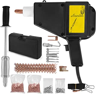 Mophorn Dent Puller Stud Welder Dent Repair Kit 110V Stud Welder Kit 800 VA Spot Welder 1000 Nails for Car Body Panel