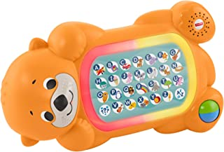Fisher-Price Linkimals A to Z Otter - Interactive Educational Toy with Music and Lights for Baby Ages 9 Months & Up, Multicolor