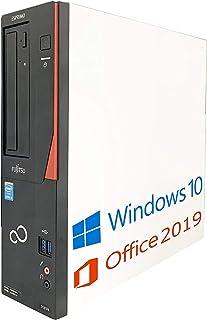 【Amazon.co.jp 限定】富士通 デスクトップPC D583/Core i7-4770/Win10/MS Office2019/DVD-RW/Wi-Fi/メモリ:16GB/(整備済み品) (SSD 512GB)
