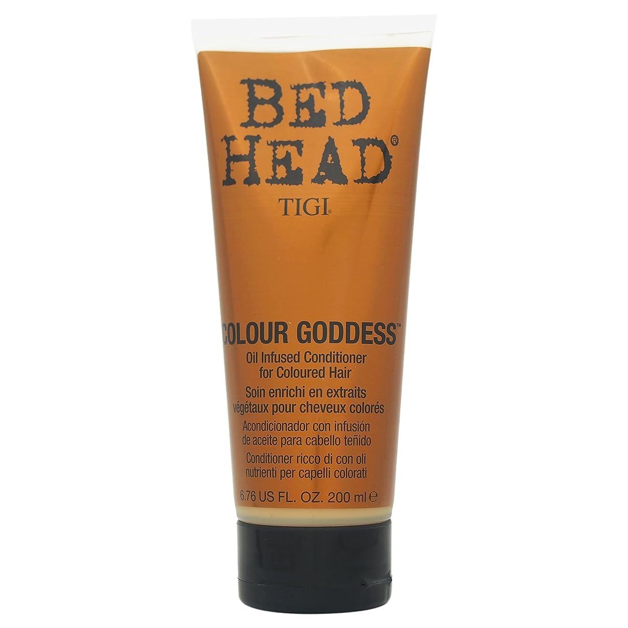 レプリカ流用する水平Tigi Bed Head Colour Goddess Oil Infused Conditioner 200ml [並行輸入品]