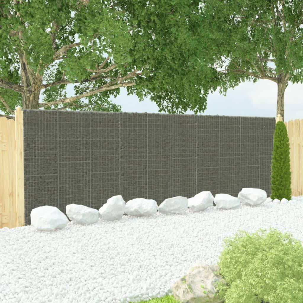 Festnight Muro de Gaviones Decorativos para Jardin con Cubiertas Acero Galvanizado 600x30x200 cm: Amazon.es: Hogar