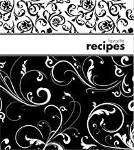 Brownlow Gifts Binder with Plastic Page Protectors and Recipe Cards, 8 x 9-Inches, Black and White
