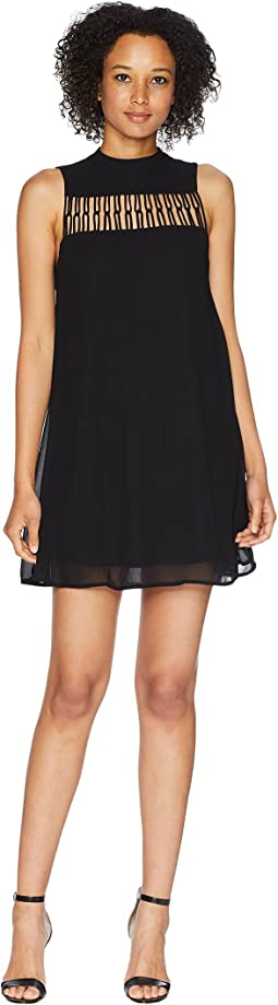 Kaya Sleeveless Mock Neck Dress