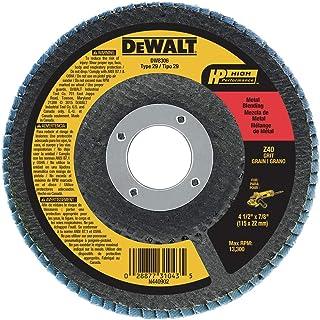 DEWALT Flap Disc, Zirconia, 4-1/2-Inch by 7/8-Inch, 40-Grit (DW8306)