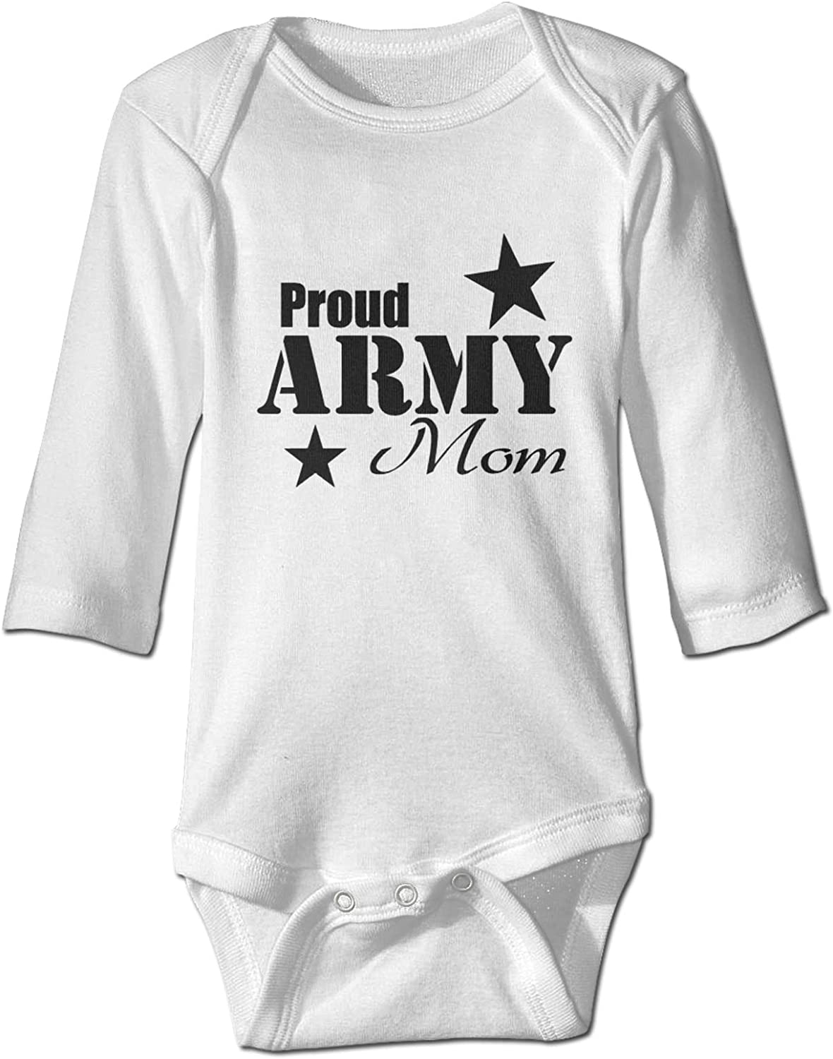 Dongzhongtangong 40% OFF Cheap Sale Limited time cheap sale Proud Army Mom Baby's Sle Jumpsuit Toddler Long