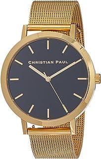 Christian Paul Unisex-Adult RBG4321 Year-Round Analog Quartz Gold Watch