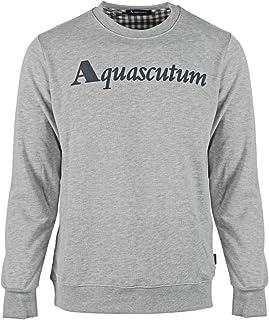 Aquascutum Box Logo Grey Sweatshirt