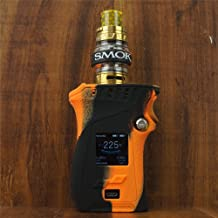 ModShield for Smok MAG 225W TC Left Handed Edition Silicone Case & Smok Band ByJojo Cover Shield Wrap Skin (Orange/Black)