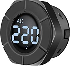 AUTENS AC Digital Voltmeter Measure 30~500V AC Voltage Display with Advanced White Backlight Control VA LCD screen.