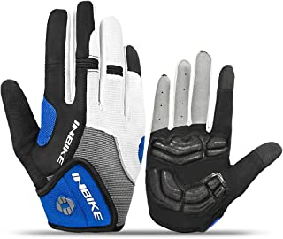 INBIKE 5mm Gel Padded Touch Screen Cycling Gloves MTB DH Road Glove Full Finger for Men Women