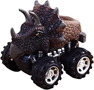 Elevin(TM)👍👍 Animal Children Gift Toy Dinosaur Model Mini Toy Car Gift Pull Back Cars Toy (F)