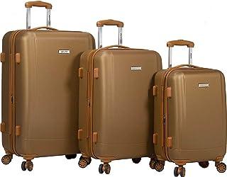 Dejuno Legion 3-pc Hardside Spinner TSA Combination Lock Luggage Set