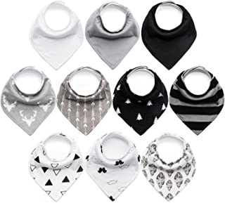 10-Pack Baby Bibs Upsimples Baby Bandana Drool Bibs for Drooling and Teething, 100%..