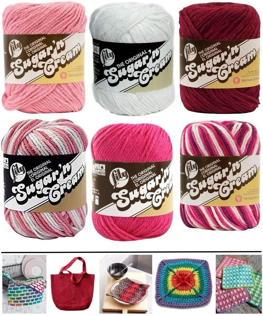 Max 59% OFF Variety Assortment Lily Sugar'n Cream Solids Cotton Low price 100% an Yarn