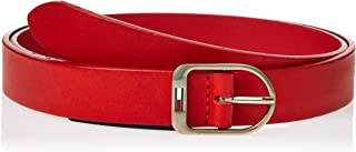 Tommy Hilfiger leather belt for women in Red, Size:90cm