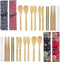 reusable bamboo utensil set