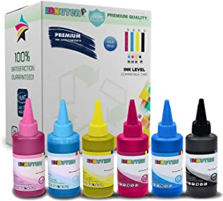 6x100ml INKUTEN Premium Pigmented Sublimation ink for Artisan 1430, 50, 837,730 1400 printers