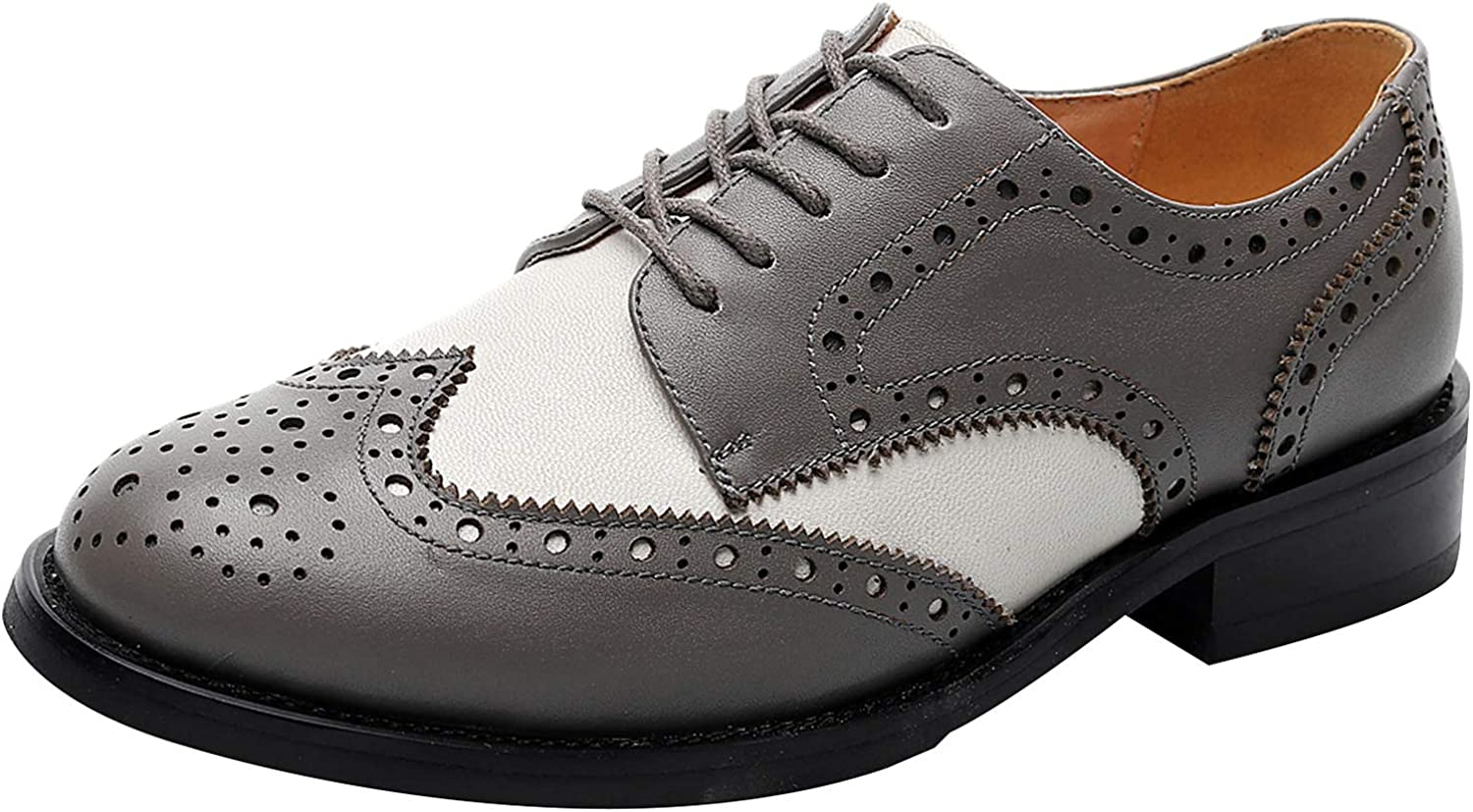 rismart Women's Brogue Pointed Toe Wingtips L WorkWedding OFFicial mail order trend rank Dress