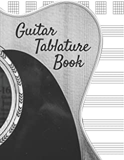 Guitar Tablature Book: Blank Note Tablature Manuscript Journal - 5 Chord Boxes and 6-Line Staves