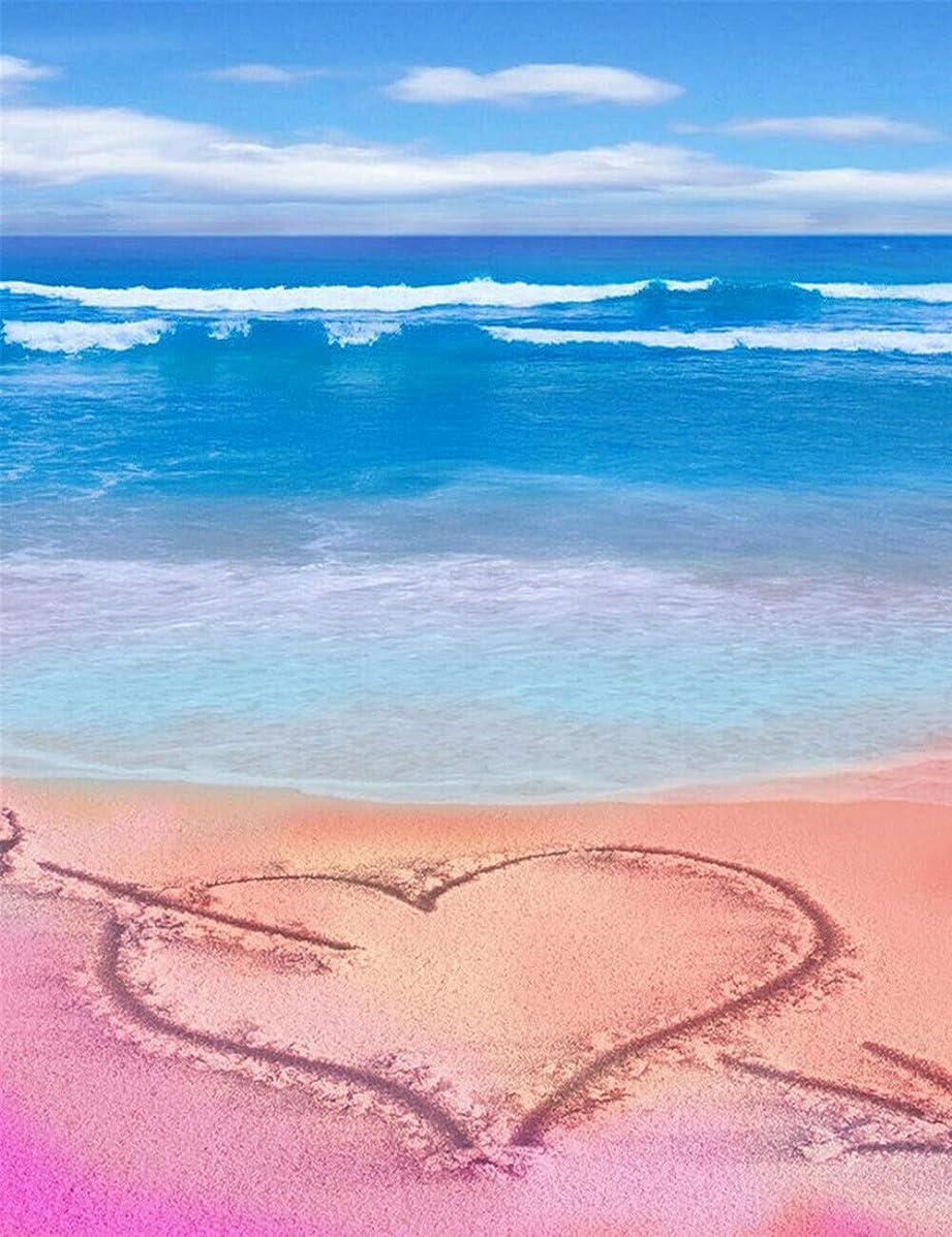 5d Diamond Painting Kits for Adults Kids Heart Love Beach Full Drill Diamond dotz for Home Wall Decor 11.8x15.7inch