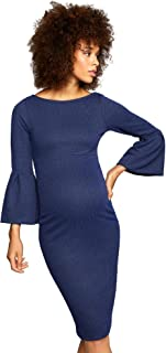 Soon Maternity Sleeve Detail Maternity Dress