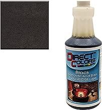 Concrete Acid Stain, Professional Grade Concrete Etching, Cement Stain, 1 Quart, Black - Direct Colors