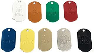 Narcotics Anonymous (NA) Recovery Key Tags - Military Dog Tag Set with Home Group Name