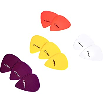 AmazonBasics Guitar Picks, Solid Colors, Celluloid, 10-Pack