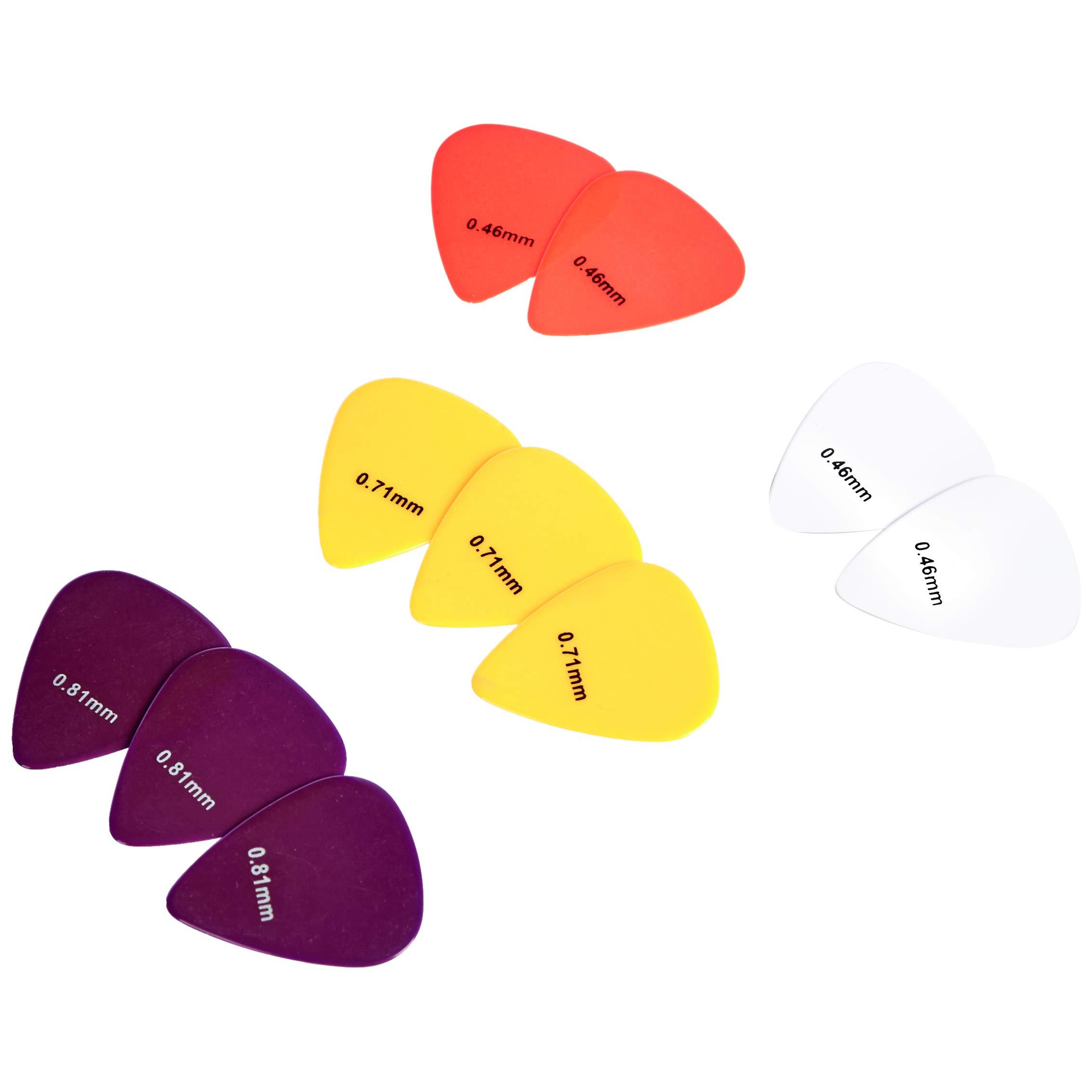 AmazonBasics - Púas de guitarra de colores lisos, de celuloide, 10 ...